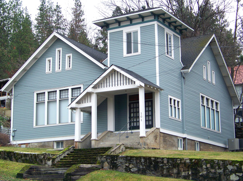 George Carslon Private Art Studio in Harrison Idaho is former Freemason Lodge